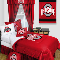 Ohio State Buckeyes Locker Room 6pc Twin Bed Set