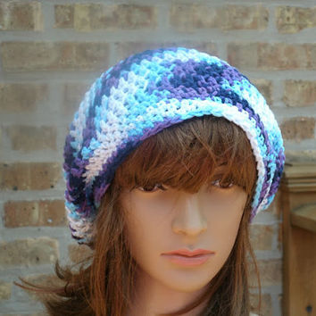 Slouchy Hat - The Eden in Moondance - Slouchy Cap - Mens Hat - Womens Hat - Cotton