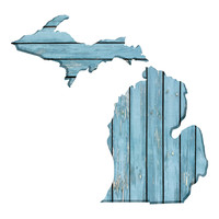 Michigan Faux Wooden wall decal