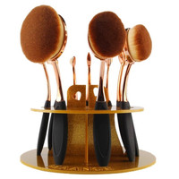 100% brand new and high quality 10 Hole Oval Makeup Brush Holder Drying Rack Organizer Cosmetic Shelf Tool Anne