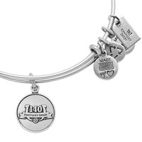 Alex and Ani 140th Kentucky Derby Logo Bangle Russian Silver
