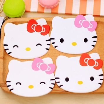 ICIK272 Hello Kitty coaster kitchen placemat table mat home cup drink mug tea coffee pad drink silicone accessories doilies Fruit