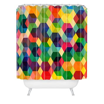 Fimbis Hexagonzo Shower Curtain