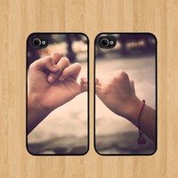 Promise Best Friends For iPhone 5 Case Soft Rubber - Set of Two Cases (Black or White ) SHIP FROM CA