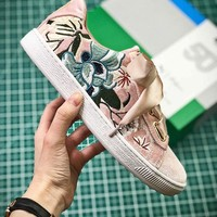 Puma Suede Classic Basket Embroidery Pink Sneakers - Best Online Sale