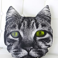 Rise and Fall Cat Face Pillow