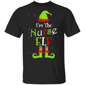 I'm The Nurse Elf Family Matching Funny Christmas Group Gift