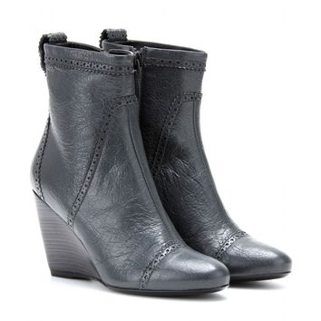 balenciaga leather wedge brogue ankle boots 2