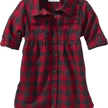 Old Navy Plaid Shirt Dress For Baby