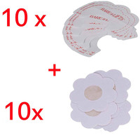 10 Nipple Pasties Nippleless Cover Or Bra Lift Tape Adhesive Disposable Invisible Bra And Stick on Bra Sticker Nipple Covers