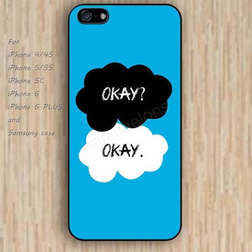 iPhone 6 case cartoon okay blue iphone case,ipod case,samsung galaxy case available plastic rubber case waterproof B141