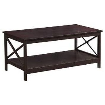Oxford Coffee Table, Espresso - Espresso - Convenience Concepts
