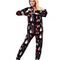 KISS Do You Love Me Hooded Adult Pajamas