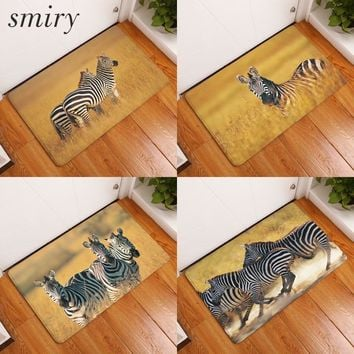 Autumn Fall welcome door mat doormat Smiry 40*60cm Wild Animals Waterproof Decorative Stair Mats Africa Lovely Zebra Carpets Anti Slip Living Room Entrance  AT_76_7