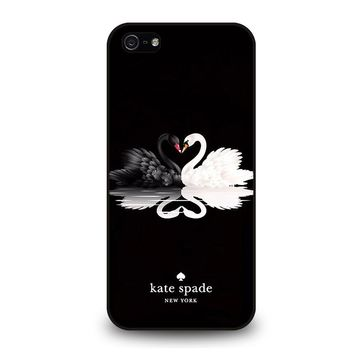 KATE SPADE BLACK WHITE SWAN iPhone 5 / 5S / SE Case Cover
