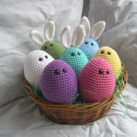 Easter Eggles - Amigurumi Plush Crochet PATTERN ONLY (PDF)
