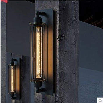 Creative euro bedroom balcony stair vintage iudustrial edison concise wall lamp light wall sconce