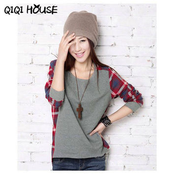 Winter Blouses For Women Blusas De Inverno Women Plaid Casual Blouse Long Sleeve Plaid Loose Shirt Tops Plus Size