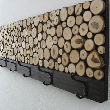 Wood Coat Rack - Hat Rack - Towel Rack