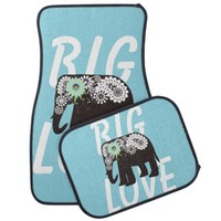 Cute paisley elephant girly car floor mat sets: Big Love: Wild animal decorative design