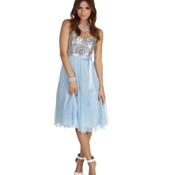 Promo-jaida- Lt. Blue Sparkle Prom Dress