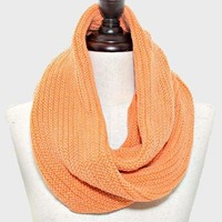 Twisted Knit Snood Scarf