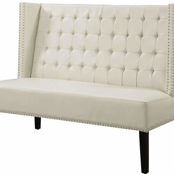Halifax Leather Banquette Bench