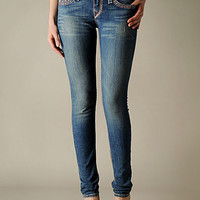 True Religion Brand Jeans Mobile - ;WOMENS HAND PICKED SKINNY BIG T SUPER T JEANS - (DARK DRIFTER W/O RIPS)