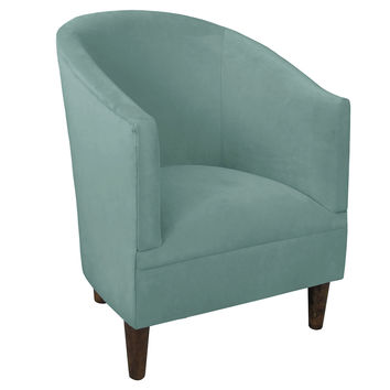 Ashlee Velvet Tub Chair, Light Blue, Club Chairs
