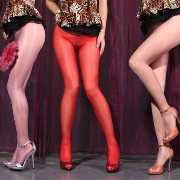 Womens Girls Sheer Sexy Hot Oil Shiny Glossy Classic Stockings Pantyhose Tights