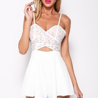 Gone With The Wind Playsuit White