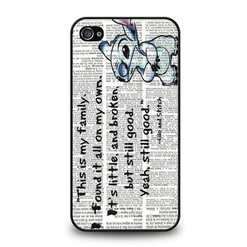 LILO AND STITCH QUOTES Disney iPhone 4 / 4S Case