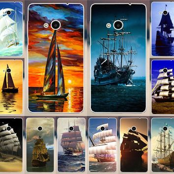 High Quality Painting Smooth Sailing Ship Pirate Ship PC Print Cases For Microsoft Nokia Lumia 535 Mobile Phone Case Cover Shell