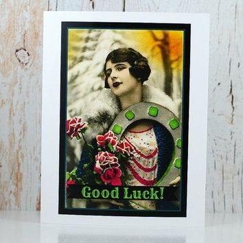 Good Luck Funny Vintage Style Retirement Card FREE SHIPPING