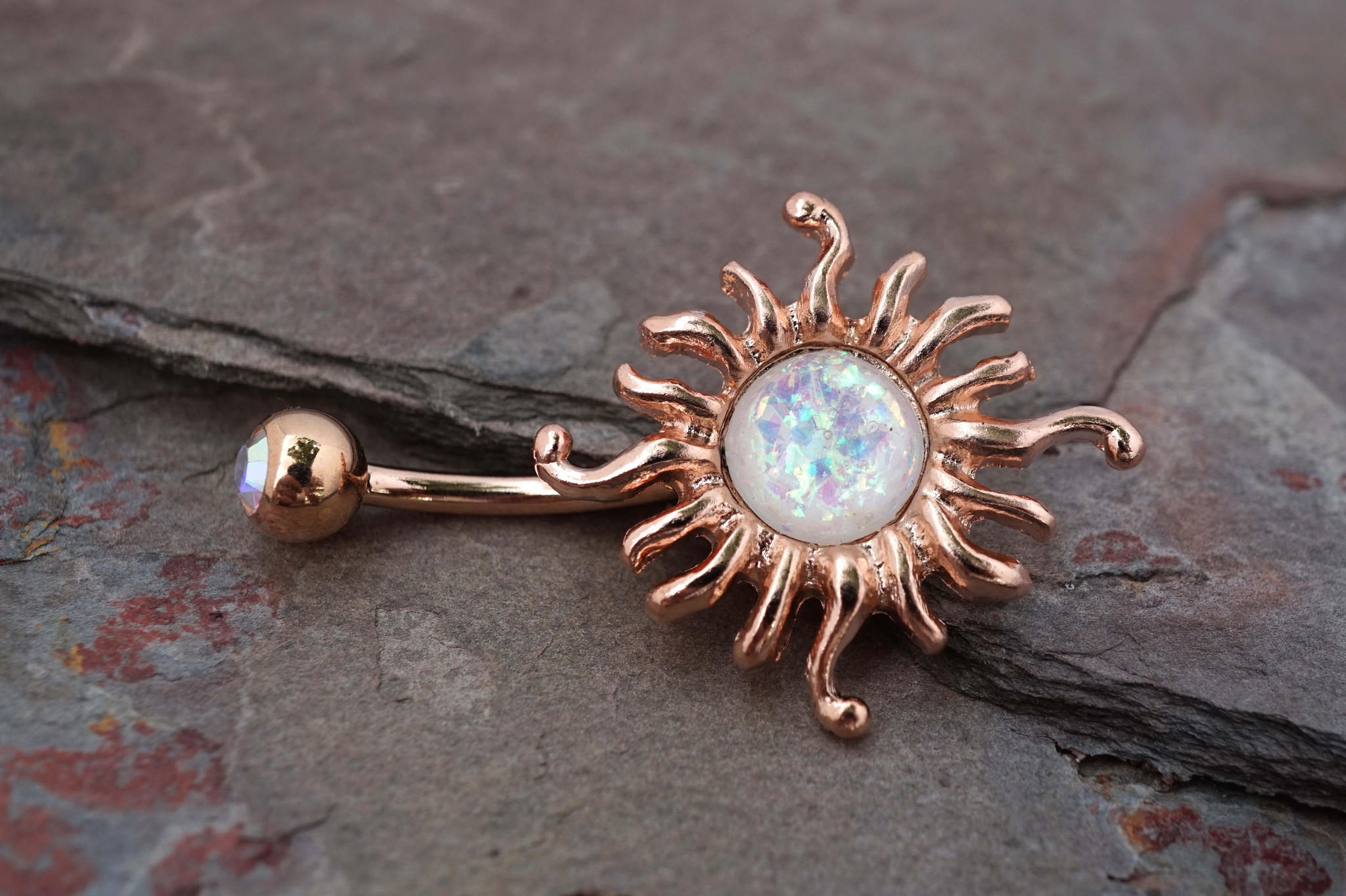 14kt Rose Gold Belly Button Ring from midnightsmojo belly