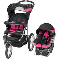 Baby Trend Expedition Travel System Stroller w Infant Car Seat & Base Bubble Gum