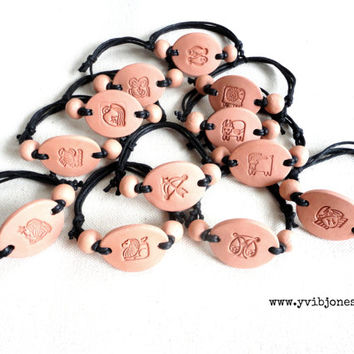 Scorpio Clay Diffuser Essential Oil bracelet, eco-friendly Bracelet, Zodiac Jewelry, Healing Bracelet, Earthy, minimalist, simple