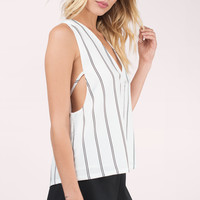 Uptown Plunging Tank Top