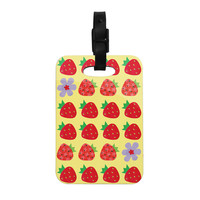 """Jane Smith """"Seasons Summer"""" Yellow Red Decorative Luggage Tag"""