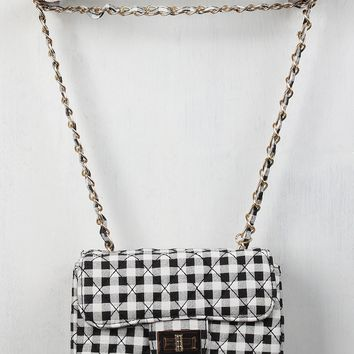 Quilted Gingham Crossbody Bag