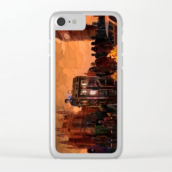 10th Doctor who trapped in the zombie land iPhone 4 4s 5 5s 5c, ipod, ipad, pillow case and tshirt Clear iPhone Case by Three Second