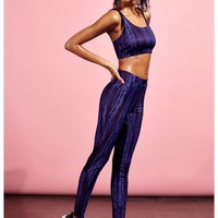 Missguided - Active Printed Full Length Gym Leggings Navy Croc