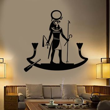 Vinyl Wall Decal Ancient Egyptian God Ra Religion Egypt Stickers Unique Gift (1750ig)