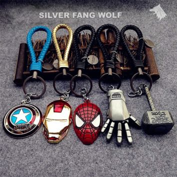 Marvel Keychain Set -  Zinc Alloy, Stainless Steel
