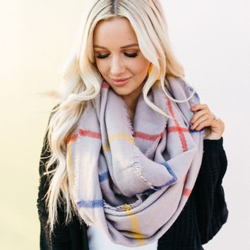 Seville Plaid Infinity Scarf