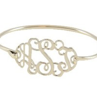 Monogrammed Filigree Sterling Bracelet | Silver Preppy Custom Jewelry