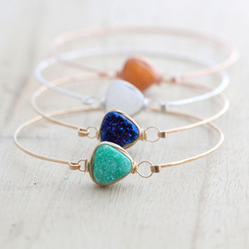 Druzy Triangle Bracelets (10mm)
