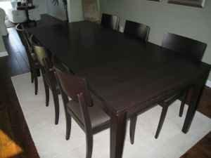 Crate & Barrel Madison Dining Table and from Krrb Local
