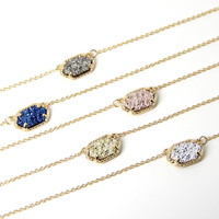 2016 new claw Choker Necklace for Women fashion Cute Quartze Oval Pendant Druzy Necklace Jewelry-in Choker Necklaces from Jewelry & Accessories on Aliexpress.com | Alibaba Group