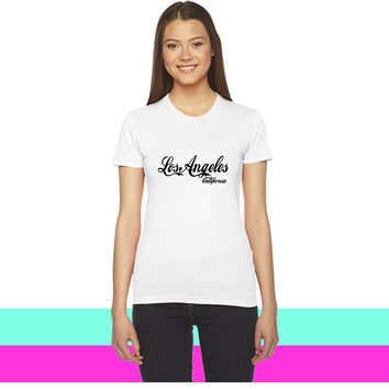 los angeles california_ women T-shirt